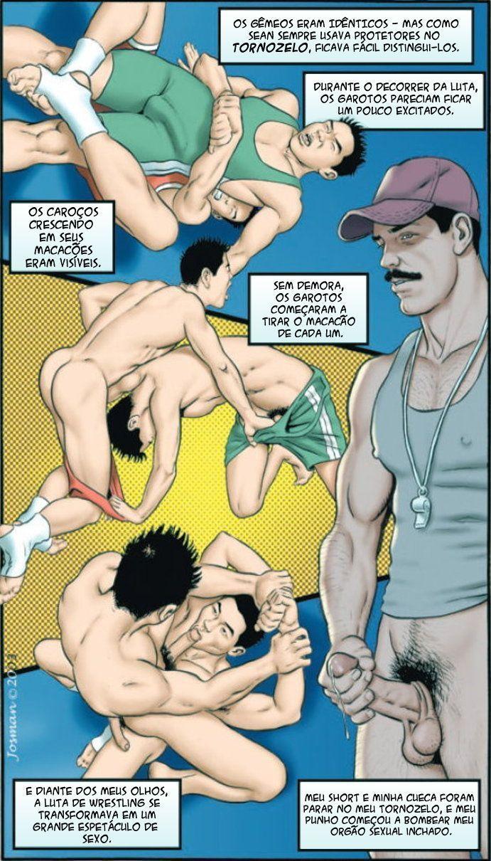 Dois gemeos em hentai brasil gay com um cara