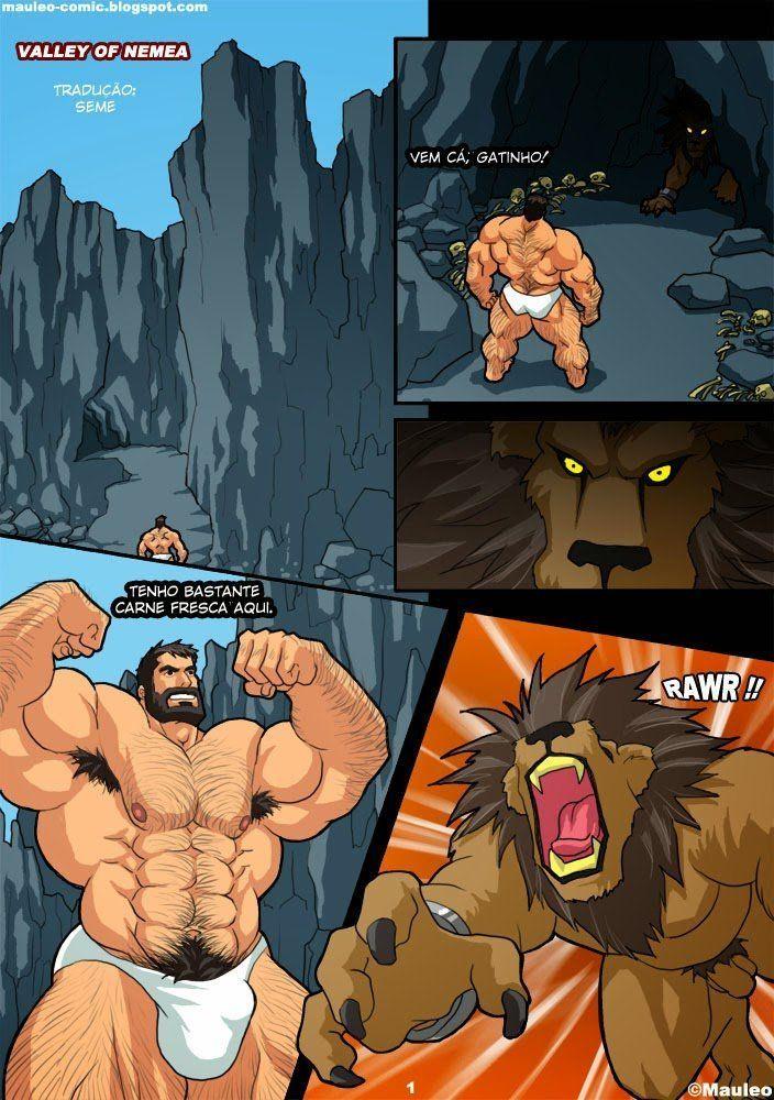 Hércules gay do xvideos hentai gay esta socando sua pica em um leão